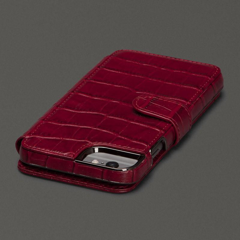 Sena  Wallet Book Classic iPhone 6/6S Croco Black - 3