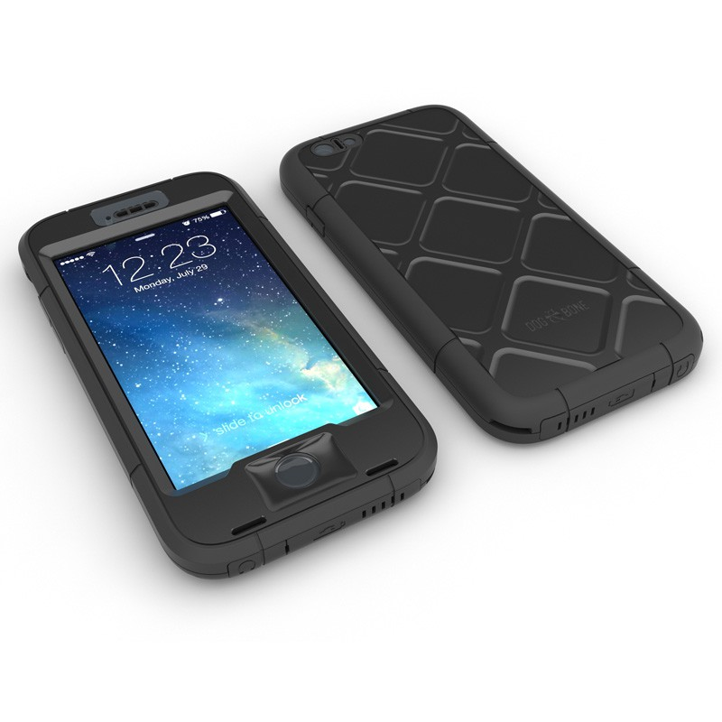 Dog and Bone Wetsuit Phone 6 Plus Black - 3