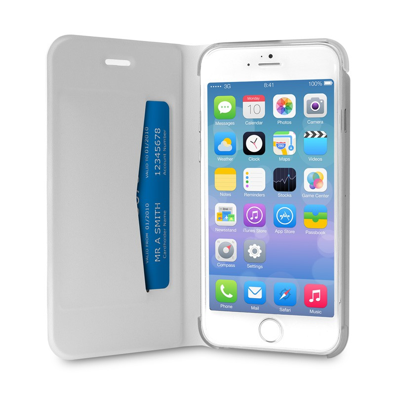 Puro Eco Leather Wallet iPhone 6 White - 3
