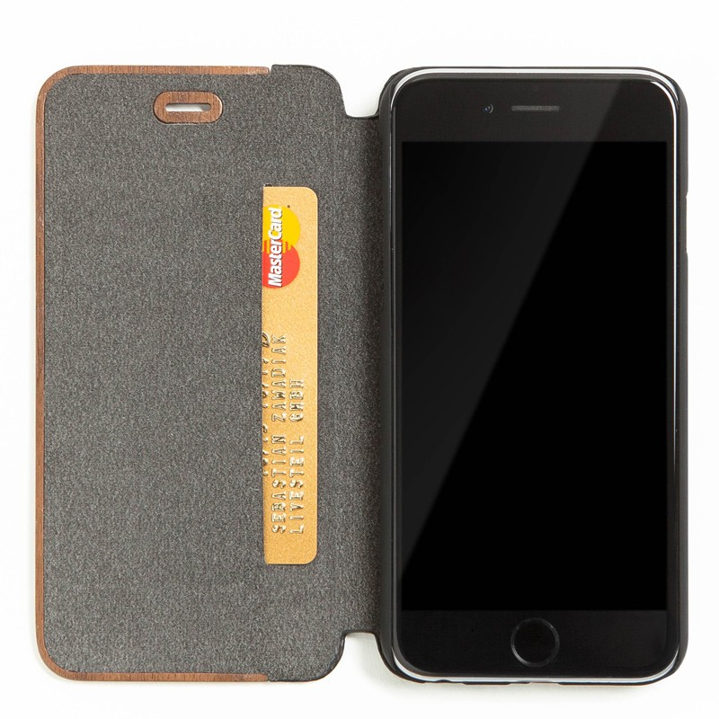 Woodcessories - EcoCase FlipCover iPhone 7 Plus Walnoot 03