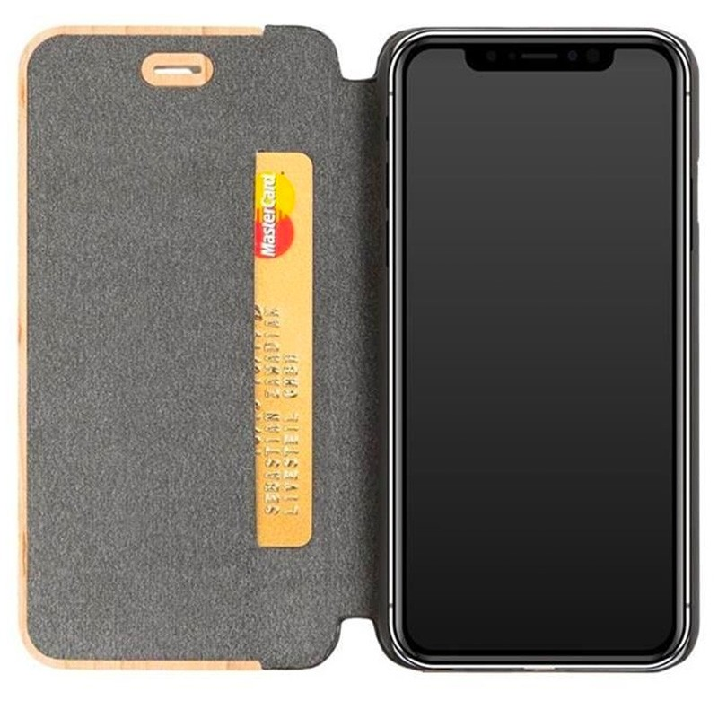 Woodcessories EcoFlip Case iPhone XS Maple - 3