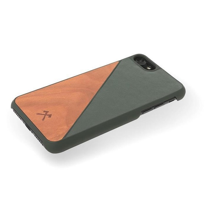 Woodcessories EcoSplit iPhone XR Hoesje Hout Kersen Groen 03