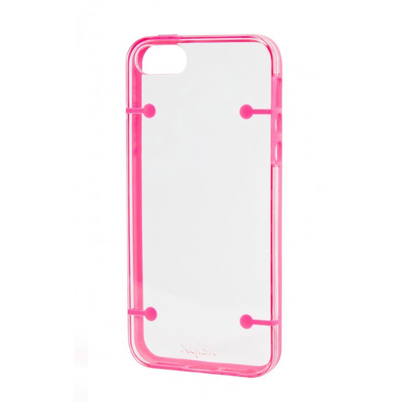 Xqisit iPlate Style iPhone 5 (Pink-Clear) 03