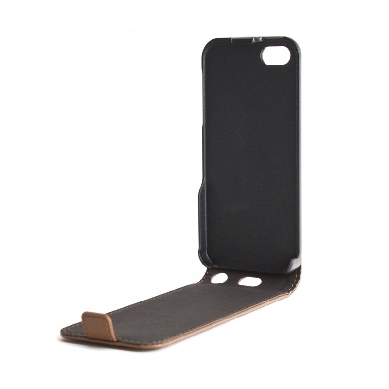 Xqisit Flipcover iPhone 5 Brown - 3