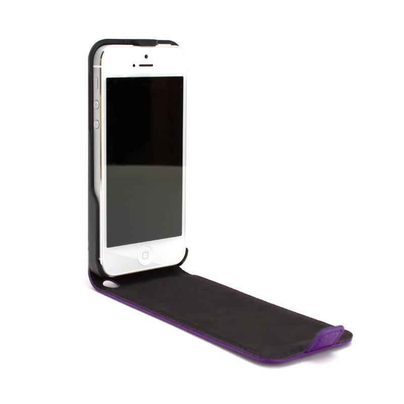 Xqisit Flipcover iPhone 5 Purple - 3