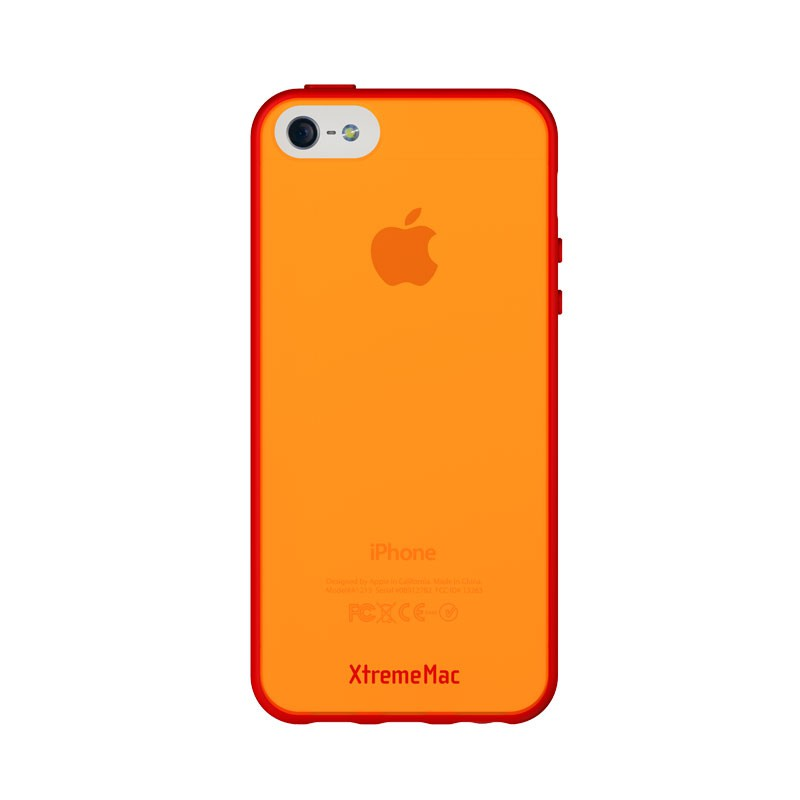 XtremeMac - Microshield Accent iPhone 5 (Red-Orange) 03