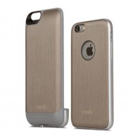 Moshi - iGlaze Ion Batterij Case iPhone 6 / 6S Brushed Titanium 01