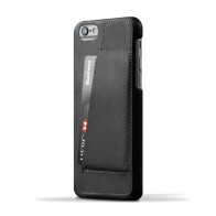 Mujjo Leather Wallet Case 80 iPhone 6 Black - 1
