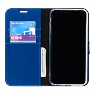 Accezz Booklet Wallet iPhone XS Max Blauw - 1