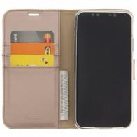 Accezz Booklet Wallet iPhone XR Hoesje Goud - 1