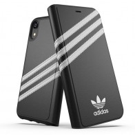Adidas Originals Booklet Case iPhone XR Zwart Grijs 01