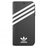 Adidas Booklet Case iPhone Xs Max zwart/wit 01