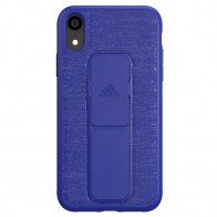 Adidas Grip Case iPhone Xr blauw 01