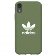 Adidas Moulded Case Canvas iPhone Xr olijfgroen 01