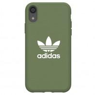 Adidas Moulded Case Canvas iPhone Xr olijfgroen 01