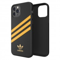 Adidas Moulded Case iPhone 12 / 12 Pro 6.1 Zwart/Geel - 1