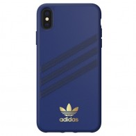 Adidas Moulded Case iPhone Xs Max hoesje blauw/goud 01