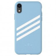 Adidas Moulded Case Suede iPhone Xr baby blauw 01