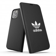Adidas Trefoil Booklet iPhone 12 Pro Max Zwart - 1