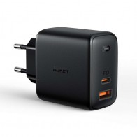 Aukey Oplader 65W USB-C + USB-A met Power Delivery Zwart 01