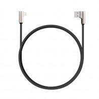 Aukey 90 Graden Lightning Kabel 1,2m (USB-A) Zwart 01