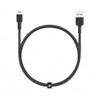 Aukey - Braided Lightning Kabel 1,2m (USB-A) Zwart 01