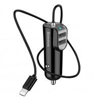 Baseus 3-in-1 Universele Autolader met Lightning Kabel - 1