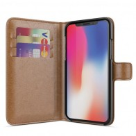 BeHello Wallet Case voor Apple iPhone X Bruin 01