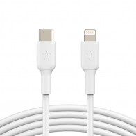 Belkin BoostCharge USB-C naar Lightning kabel Wit 01