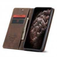 CaseMe Retro Wallet iPhone 11 Coffee - 1