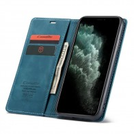 CaseMe Retro Wallet iPhone 11 Pro Blauw - 1