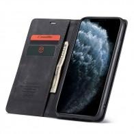 CaseMe Retro Wallet iPhone 11 Pro Max Zwart - 1