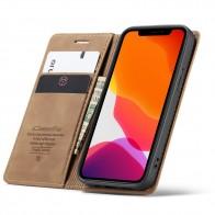 CaseMe Retro Wallet iPhone 12 6.1 inch Bruin - 1