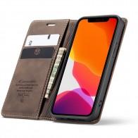 CaseMe Retro Wallet iPhone 12 Pro Max Coffee - 1