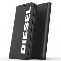 Diesel Booklet Case iPhone 12 Mini zwart-wit 01