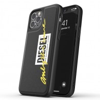 Diesel Moulded Case iPhone 12 / 12 Pro 6.1 yellow handwritten 01