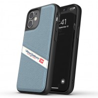 Diesel Moulded Case iPhone 12 Mini wit/blauw/zwart barcode 01