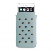 Fab. Pouch Studs Heart iPhone 6 Aqua - 1