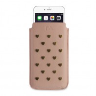 Fab. Pouch Studs Heart iPhone 6 Salmon - 1