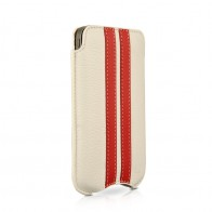 Beyzacases SlimLine Stripes iPhone 4(S) (white/red) 01