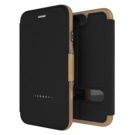 Gear4 Oxford Book Case iPhone 7 Black/ Gold - 1