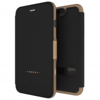 Gear4 Oxford Book Case iPhone 7 Black/Gold - 1
