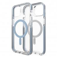 Gear4 Santa Cruz Snap iPhone 13 MagSafe Hoesje Clear Blauw 01