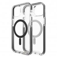 Gear4 Santa Cruz Snap MagSafe iPhone 13 Hoesje Zwart Transparant 01