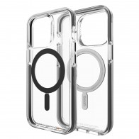 Gear4 Santa Cruz Snap MagSafe iPhone 13 Pro Hoesje Clear Black 01