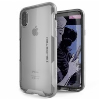 Ghostek Cloak 3 Case iPhone X zilver 01