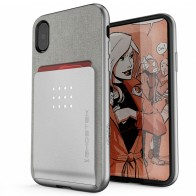 Ghostek Exec 2 Wallet Case iPhone X SILVER 01