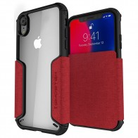 Ghostek Exec 2 iPhone XR Wallet Rood/Transparant - 1
