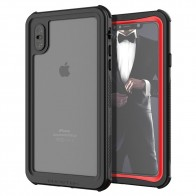 Ghostek Nautical 2 iPhone XS Max Zwart/Rood - 1
