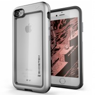 Ghostek Atomic Slim Rugged Case iPhone 8/7 zilver / transparant 01